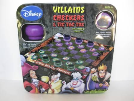 Disney Villains Checkers & Tic Tac Toe (2008) (CIB) - Board Game